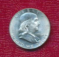 1962 D FRANKLIN SILVER HALF DOLLAR   CHOICE BRILLIANT UNCIRCULATED