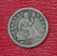 1853 SEATED LIBERTY SILVER QUARTER ARROWS/RAYS NICE CIRCULATED COIN FREE SHIP