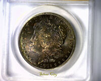 MS63 ANACS BEAUTIFULLY TONED 1882S MORGAN SILVER DOLLAR U.S. COIN 1882 S