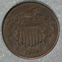 1869 TWO CENT PIECE - PROBLEM-FREE FINE CONDITION
