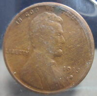 1913-S LINCOLN WHEAT CENT-VG               S-131-1