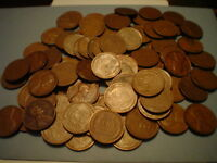 1 ROLL  WHEATS  1909-1958  NO DUPLICATES 1917 S 1930 S  ENDS ND1234