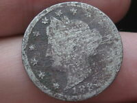 1883 LIBERTY HEAD V NICKEL  WITH CENTS  CULL METAL DETECTOR FIND?