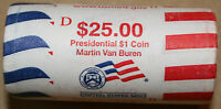2008 D MARTIN VAN BUREN PRESIDENTIAL DOLLAR ROLL VB4  MINT WRAPPED ROLL