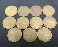11 TOUGHER DATE LINCOLN WHEAT CENTS FROM THE 1930'S   2656