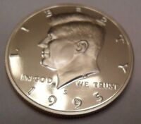 1995 S CAMEO PROOF KENNEDY HALF DOLLAR 50 CENTS