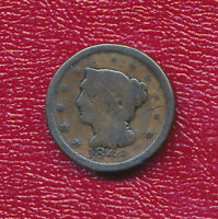 1848 BRAIDED HAIR LARGE CENT CIRCULATED