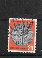 WEST GERMANY SC 787 1958 OLD POSTALLY USED HERALDIC EAGLE COMMEMORATIVE STAMP