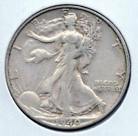 VINTAGE 1940 S WALKING  HALF BUY IT NOW SHIPS FREE GREAT COLLECTOR GRADE COIN