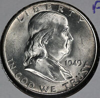 BEAUTIFUL 1949 NEAR GEM FBL FRANKLIN HALF DOLLAR