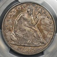 1877   LIBERTY SEATED HALF DOLLAR   PCGS  XF 45   COLOR TONED   $188.88