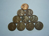 10 LINCOLN WHEATS 1916 1918 S 1919 1920 S 1935 1939 D 1940 1949 D 1957 1958