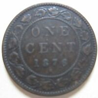 1876 CANADA LARGE CENT COIN. NICE GRADE C110