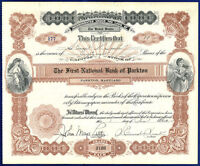 USA MD FIRST NATIONAL BANK OF PARKTON 1932 STOCK CERTIFICATE