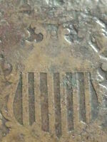 1864 TWO 2 CENT PIECE- CIVIL WAR TYPE COIN-  ROTATED REVERSE MINT ERROR