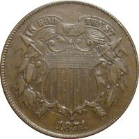 1871 SHIELD TWO CENT--  AU