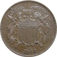 1869 SHIELD TWO CENT--AWESOME AU