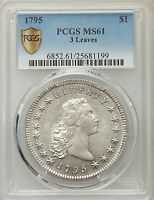 1795 FLOWING HAIR T EARLY DOLLAR PCGS MS 61