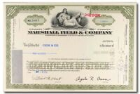 S420 MARSHALL FIELD & COMPANY 1970S STOCK CERTIFICATE OLIVE