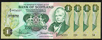 BANK OF SCOTLAND 1 NOTES 1970 IN SEQUENCE