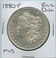 1880 P MORGAN DOLLAR  DATE UNCIRCULATED US MINT SILVER COIN UNC MS