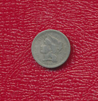 1865 THREE CENT NICKEL 3 CENT PIECE NICE CIRCULATED COIN