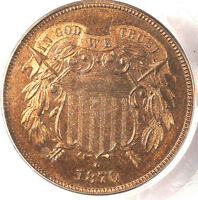 1870 2C PR65RB PCGS-ONLY 24 IN HIGHER GRADE- PQ & 95 RED