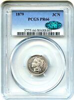 1879 3CN PCGS/CAC PR 66   PROOF TYPE COIN   3 CENT NICKEL   PROOF TYPE COIN