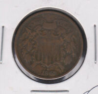 REDUCED  MAKE OFFER  FINE 1869 2C PIECE SHIPS FREE