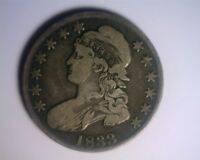 1833 CAPPED BUST HALF DOLLAR O 105   DOUBLED