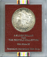 1890-S $1 MINT STATE 64 NGC-REDFIELD MORGAN DOLLAR