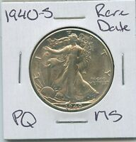 1940 S WALKING LIBERTY HALF DOLLAR  DATE SILVER US COIN PQ UNC MS