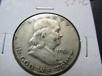 1951 SILVER FRANKLIN HALF DOLLAR COIN  MINT 90   NICE COIN  LOW SHIPPING S276