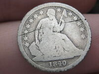1840 P SEATED LIBERTY DIME   TYPE COIN  NO DRAPERY