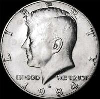 1984 D CHOICE BU ALL WHITE KENNEDY HALF   BEST VALUE @ CHERRYPICKERCOINS