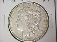 1921 D MORGAN SILVER DOLLAR XF LY FINE DENVER MINT T98