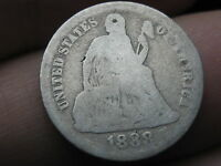 1888 P SEATED LIBERTY SILVER DIME  AG/GOOD