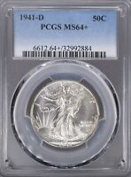 1941 D WALKING LIBERTY HALF PCGS MS64