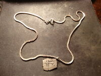1715 FLEET EMPIRE SPAIN SILVER ONE REALE SILVER NECKLACE NICE