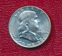 1954 D FRANKLIN SILVER HALF DOLLAR    CHOICE BRILLIANT UNCIRCULATED