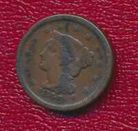 1846 BRAIDED HAIR LARGE CENT NICE CIRCULATED LARGE CENT