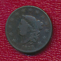 1832 CORONET HEAD LARGE CENT COPPER COIN  NICE CIRCULATED