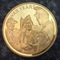 QUEEN MOTHER SOLID COPPER COMMEMORATIVE CROWN SIZE COIN 1900 80.WAR YEARS.