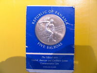 1970 SILVER 5 BALBOAS CENTRAL AMERICA AND CARIBBEAN GAMES IN ORIGINAL PACKAGING