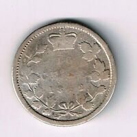 NEW BRUNSWICK 1862 TEN CENTS DIME QUEEN VICTORIA STERLING SILVER CANADIAN COIN