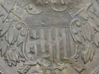 1867 TWO 2 CENT PIECE- VF/EXTRA FINE  SHIELD DETAILS- OLD TYPE COIN