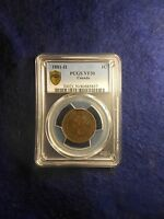 1881 H CANADIAN LARGE CENT PCGS VF30
