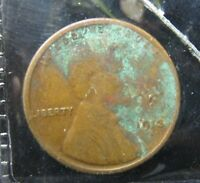 1913-S LINCOLN WHEAT CENT - FINE - CORRODED        P-199