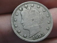 1903 LIBERTY HEAD V NICKEL  VG/FINE DETAILS FULL RIMS FULL DATE