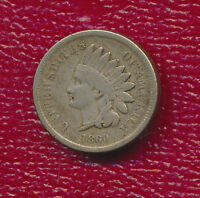 1860 INDIAN HEAD CENT   POINTED BUST    CIRCULATED